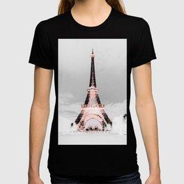 pariS Black & White + Pink T-shirt