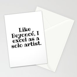Excel as a Solo Stationery Cards