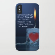God Changes Hearts iPhone X Slim Case