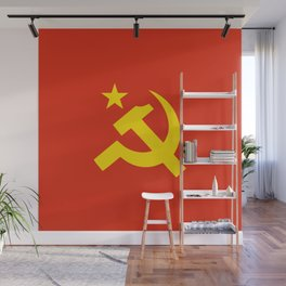 Communist Hammer & Sickle & Star Wall Mural