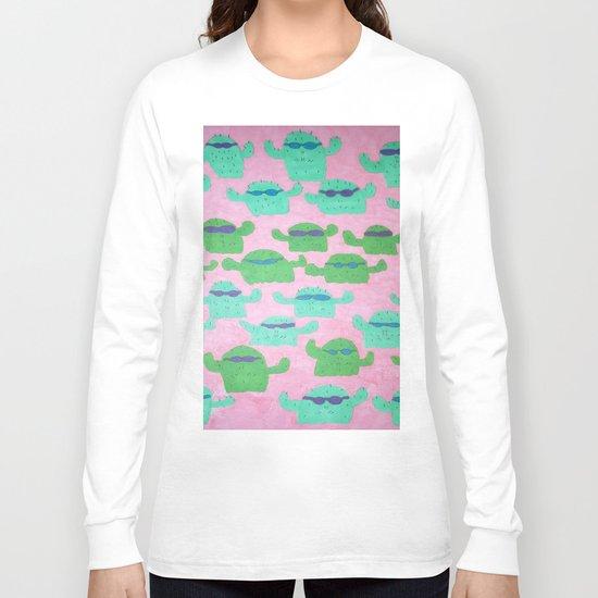 Cool Cactus Pattern Long Sleeve T-shirt
