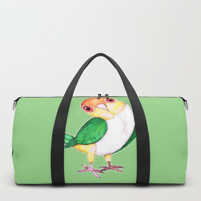 White bellied caique Duffle Bag