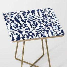 Navy Dalmatian Side Table