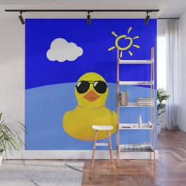 Cool Rubber Duck Yellow Wall Mural