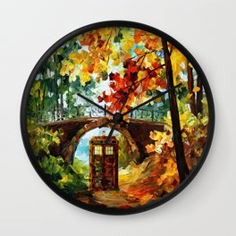 starry Abandoned phone box Under the bridge iPhone 4 4s 5 5c 6, pillow case, mugs and tshirt Wall Clock