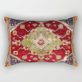 Çal Southwest Anatolian Rug Print Rectangular Pillow