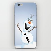 olaf iPhone & iPod Skins featuring Olaf Frozen  by Lemo Boy