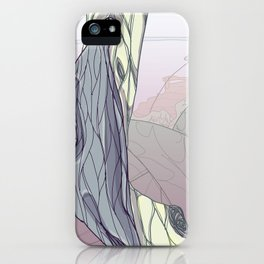 """traveled to a really cool planet last night, check out what their """"plants"""" look like iPhone Case"""