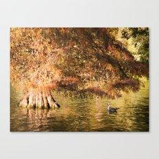 Golden tree Canvas Print