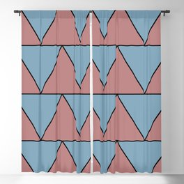 Geometric Triangles Blackout Curtain