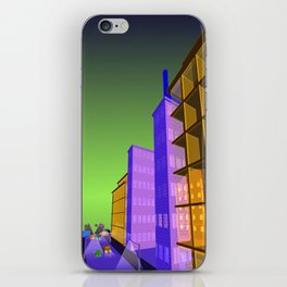 the colored city iPhone Skin