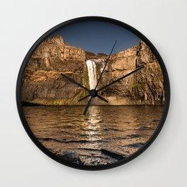 Desert Waterfall - Summer In Palouse Wall Clock