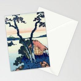 Hokusai -36 views of the Fuji 17 Lake Suwa in the Shinano province Stationery Cards
