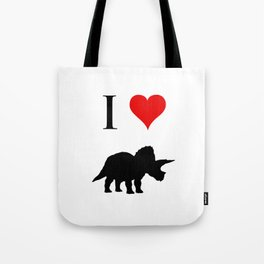 I Love Dinosaurs - Triceratops Tote Bag