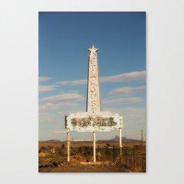 Stardust Motel - Marfa, Texas Canvas Print
