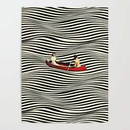 Illusionary Boat Ride Poster