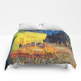 Vincent Van Gogh - Café Terrace at Night (new color editing) Comforters