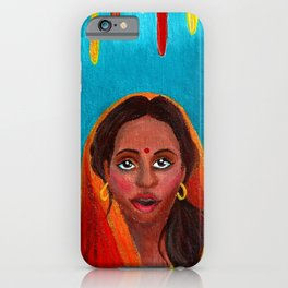 Holi Festival of Colors - Indian Girl iPhone Case