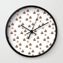 TOASTER PATTERN Wall Clock