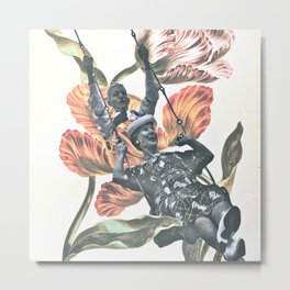 Young Love Botanique Metal Print