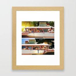 Two Dads. Framed Art Print