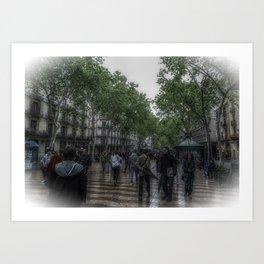 La Rambla Artistic Art Print