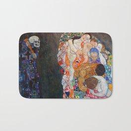 Death and Life by Gustav Klimt Bath Mat