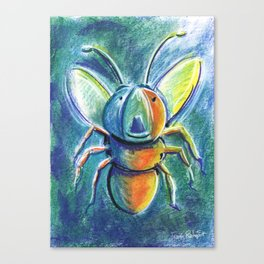 Firefly For Children Pastel Chalk Drawing Canvas Print