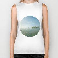 island Biker Tanks featuring island by rAr : Art by Robyn Ashley Rosner