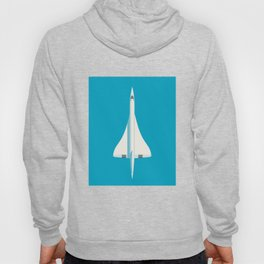Concorde Supersonic Jet Airliner Aircraft - Cyan Hoody