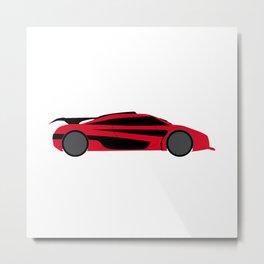 Modern Fast Car Metal Print