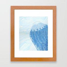 Blue Jelly  Framed Art Print