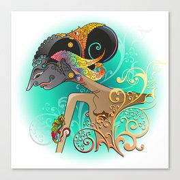 Wayang or shadow puppets Canvas Print