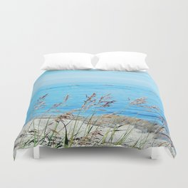 Circle of Rocks and the Tall Grass Duvet Cover