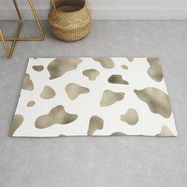 Golden cow hide print Rug