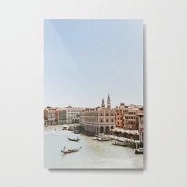 Venice in Pink POV Metal Print