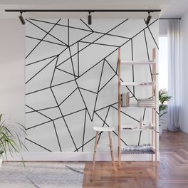 Simple Modern Black and White Geometric Pattern Wall Mural