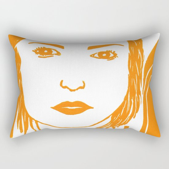 WUTHERING HEIGHTS - LINO (ORANGE VERSION)  Rectangular Pillow
