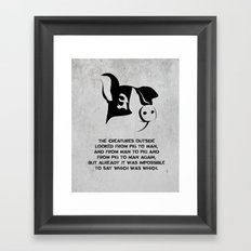 George Orwell - Animal Farm Framed Art Print