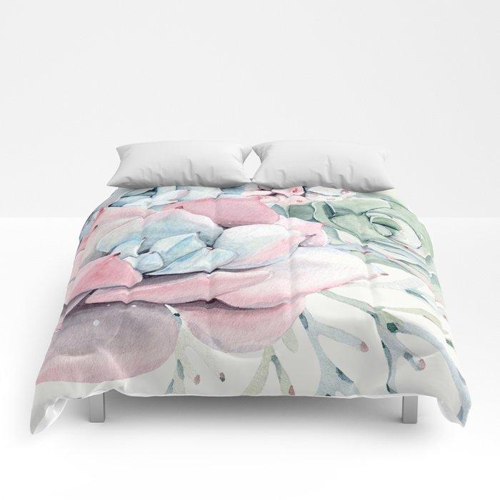 Garden of Succulents Comforters