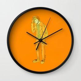 louis orange Wall Clock