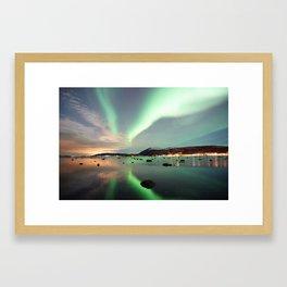 Northern lights Framed Art Print