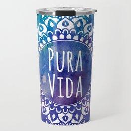 Pura Vida Watercolor Mandala Travel Mug