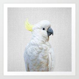 White Cockatoo - Colorful Art Print