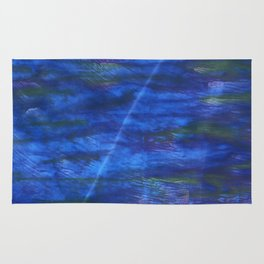 Indigo abstract watercolor background Rug