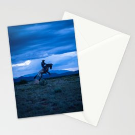 Santa Fe Cowboy Being Bucked Off Stationery Cards