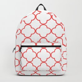 Quatrefoil (Salmon & White Pattern) Backpack