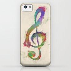 Treble Clef iPhone 5c Slim Case