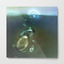 Surfacing Metal Print