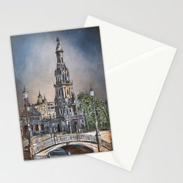 Plaza de Espana in Seville Stationery Cards